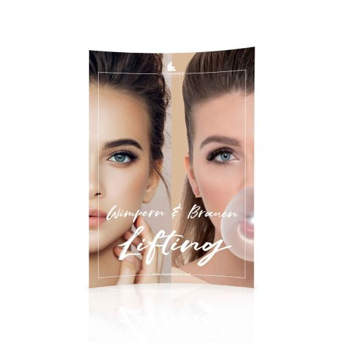 Plakat Wimpern & Brauen Lifting